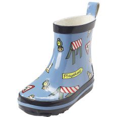 Bottines de pluie enfant attention travaux